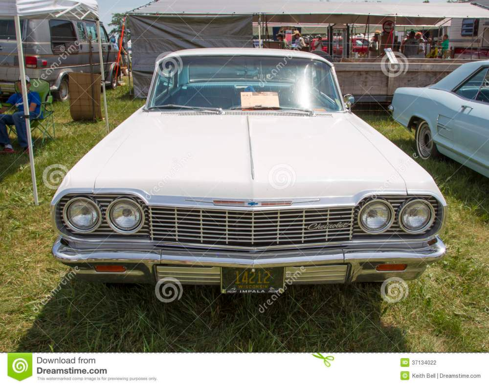 medium resolution of 1964 white chevy impala ss front view