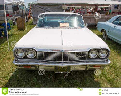 small resolution of 1964 white chevy impala ss front view