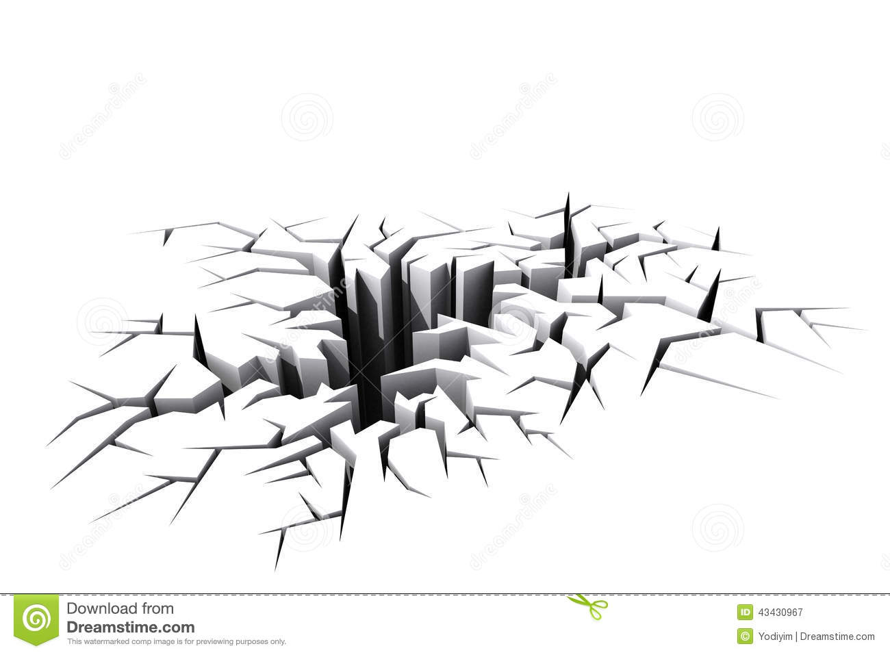 White Cracked Ground Floor Stock Illustration