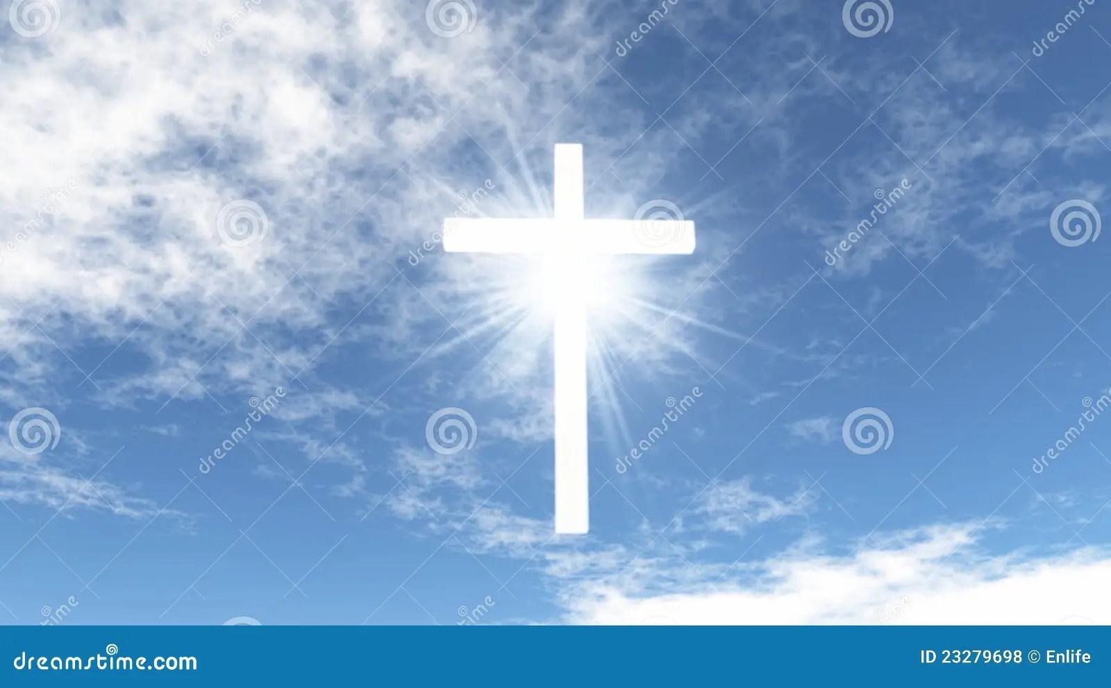 Świetlisty Krzyż Na Niebie