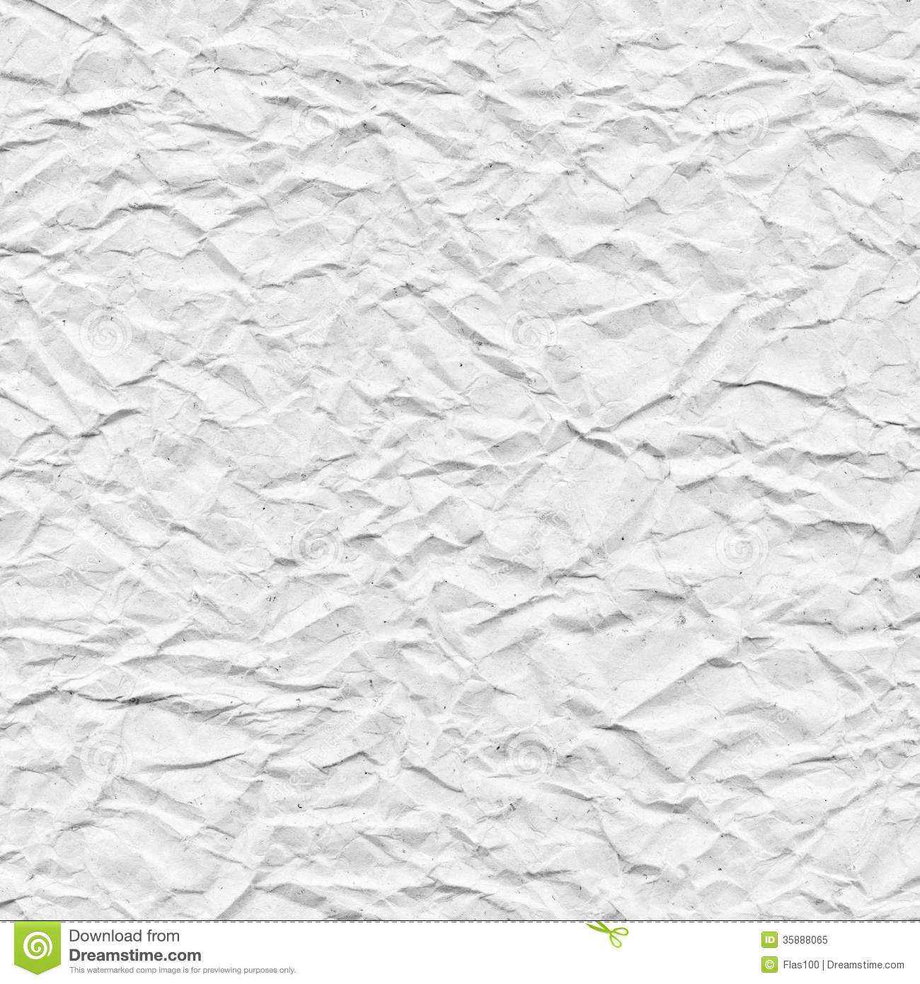 White Crumpled Paper Texture Stock Illustration