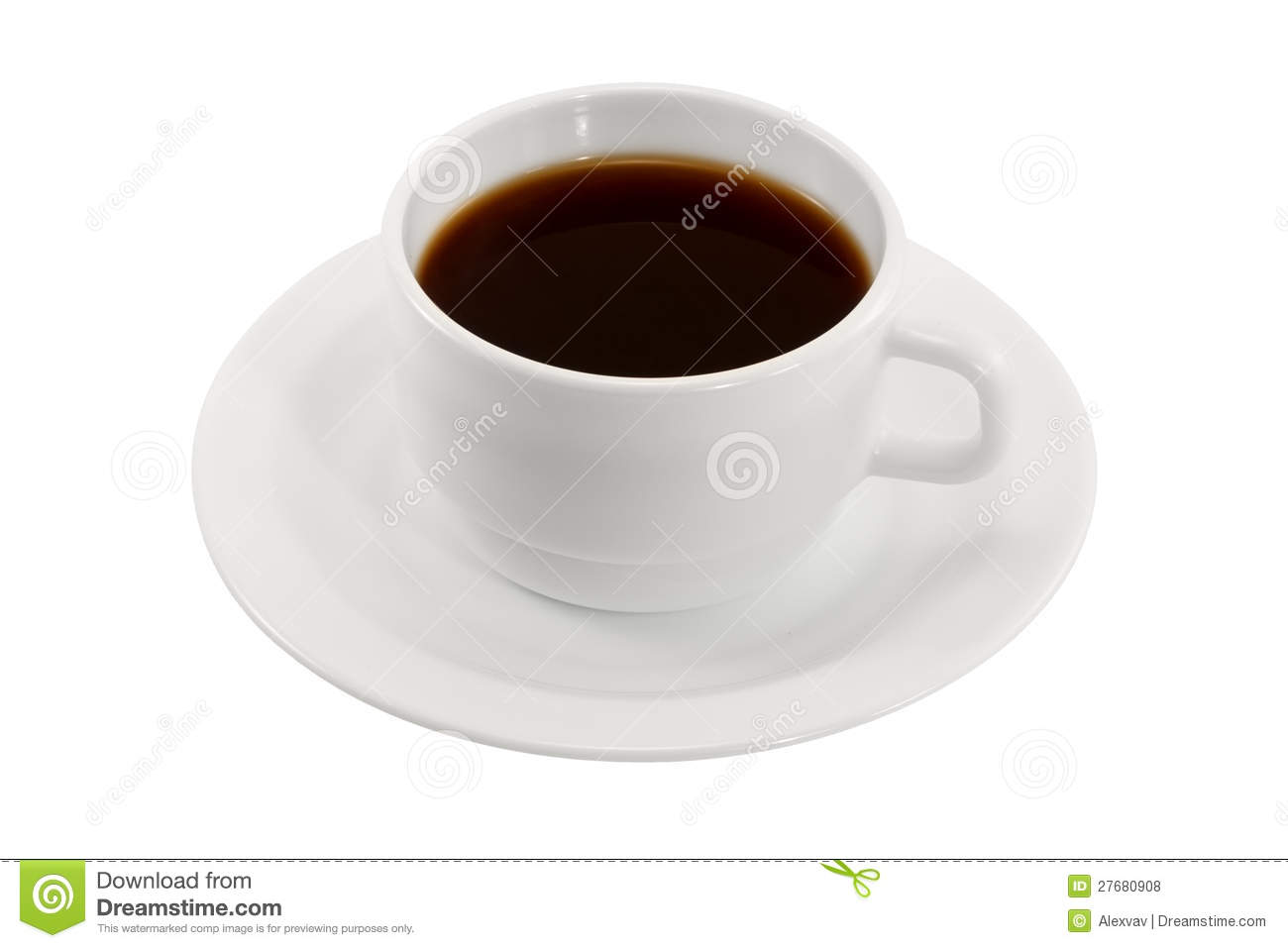 White Coffee Cup And Saucer Royalty