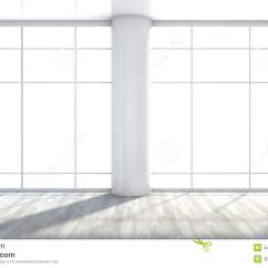 Large Vase For Living Room Leather Furniture Small White Empty Interior With Window Stock Illustration ...