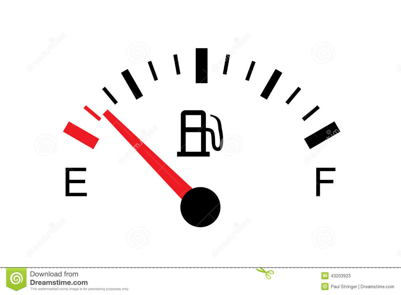 White Gas Tank Illustration On White Empty Stock