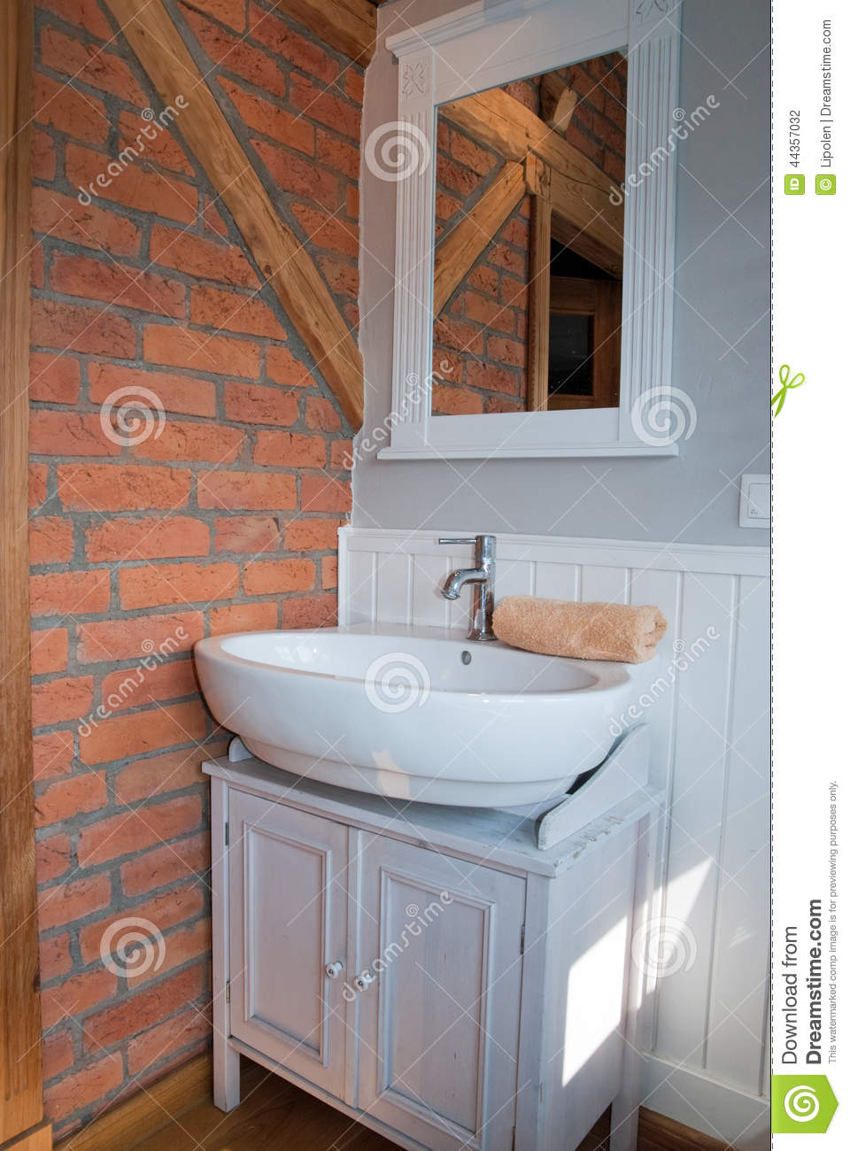 Paneling For Bathroom White Grey Bathroom With Sink Stock Photo Image Of Paneling