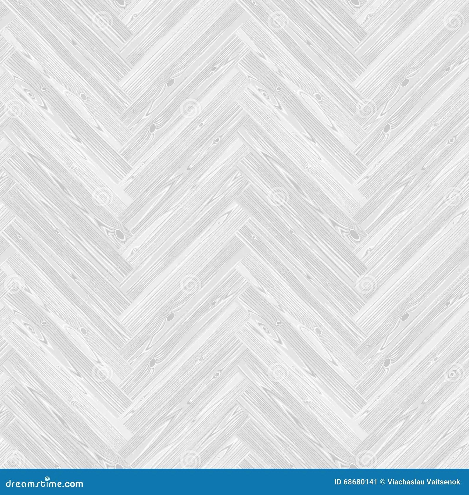 White Herringbone Parquet Floor Seamless Pattern Stock