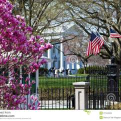 American Flag Chair Ikea Dining Covers White House In Springtime Stock Images - Image: 27344264