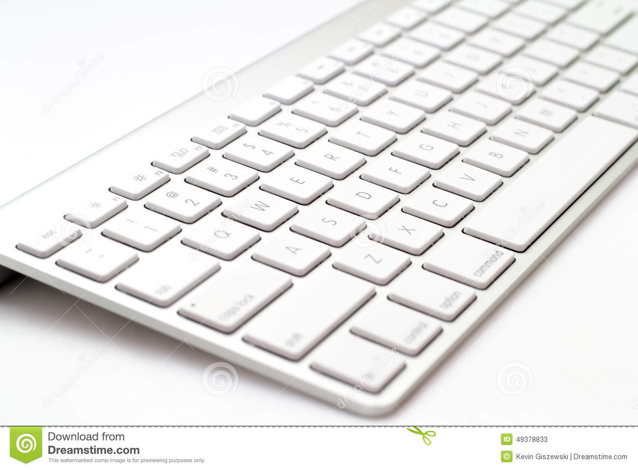 White Keyboard Stock Image Image Of Enter Computer