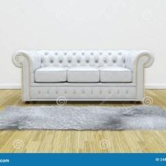 White Leather Wood Sofa King Size Sleeper Stock Photos Image 24897353