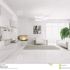 Pictures Of Modern White Living Rooms Oak Floor Room Ideas Interior 3d Stock Illustration Render
