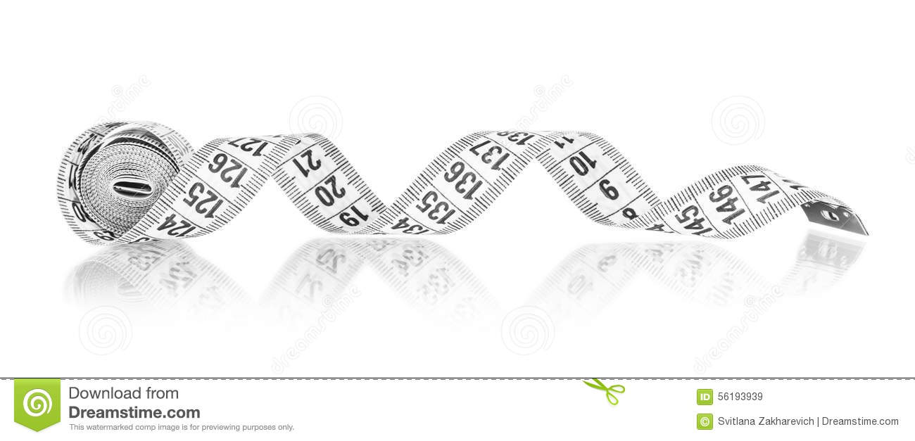 White measuring tape stock image. Image of measurement