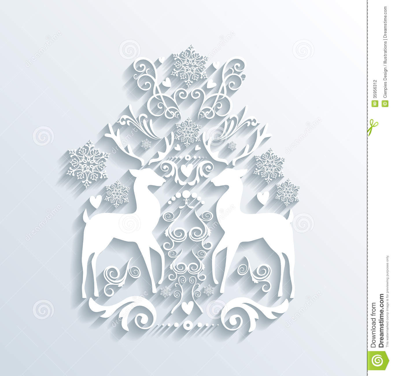 White Merry Christmas And Happy New Year Greeting Card
