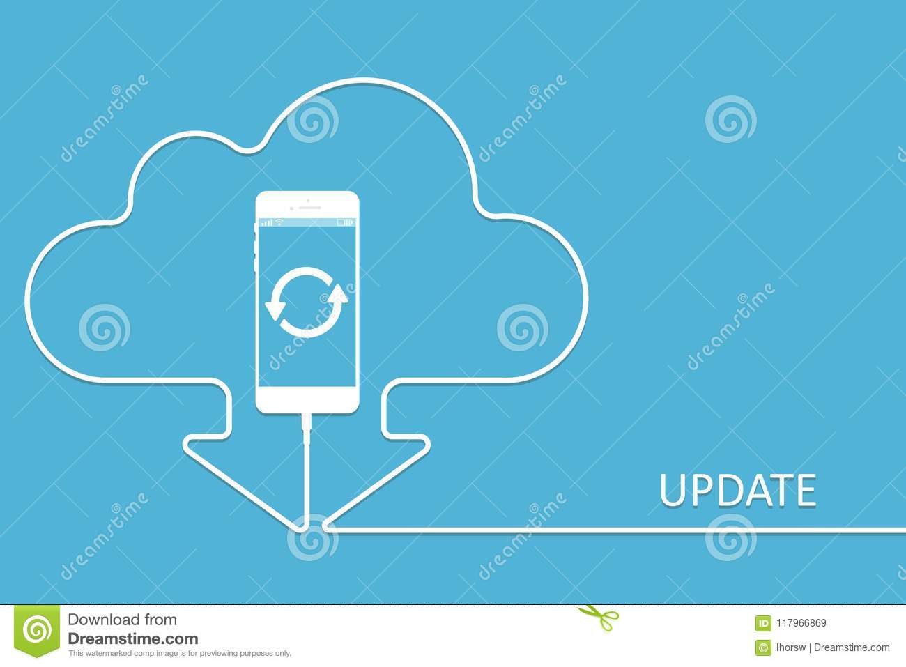 hight resolution of white phone charging in style update app cloud smartphone with line wire download software