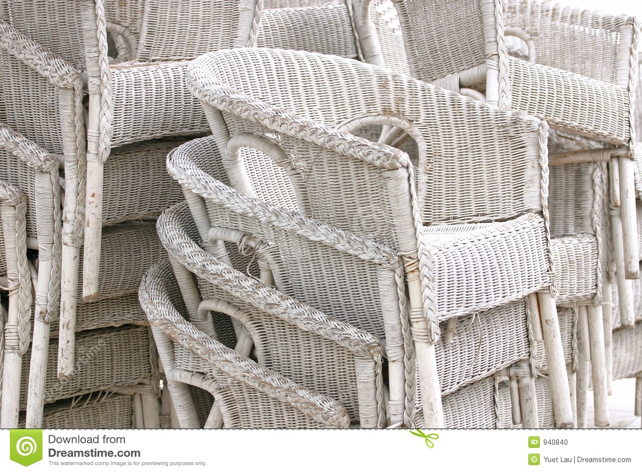 White Rattan Chairs Stock Photo  Image 940840