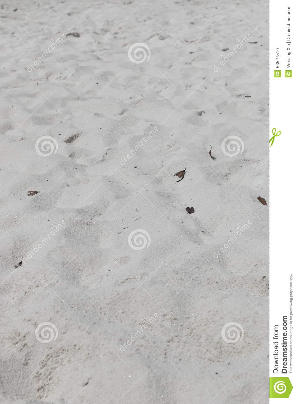 White Sand Beach For Background And Texture Stock Photo