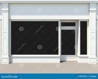 White Shopfront Stock Image - Image: 30912061