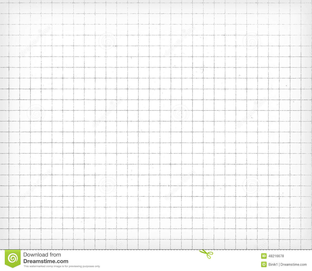 White Squared Paper Sheet Texture, Background Stock