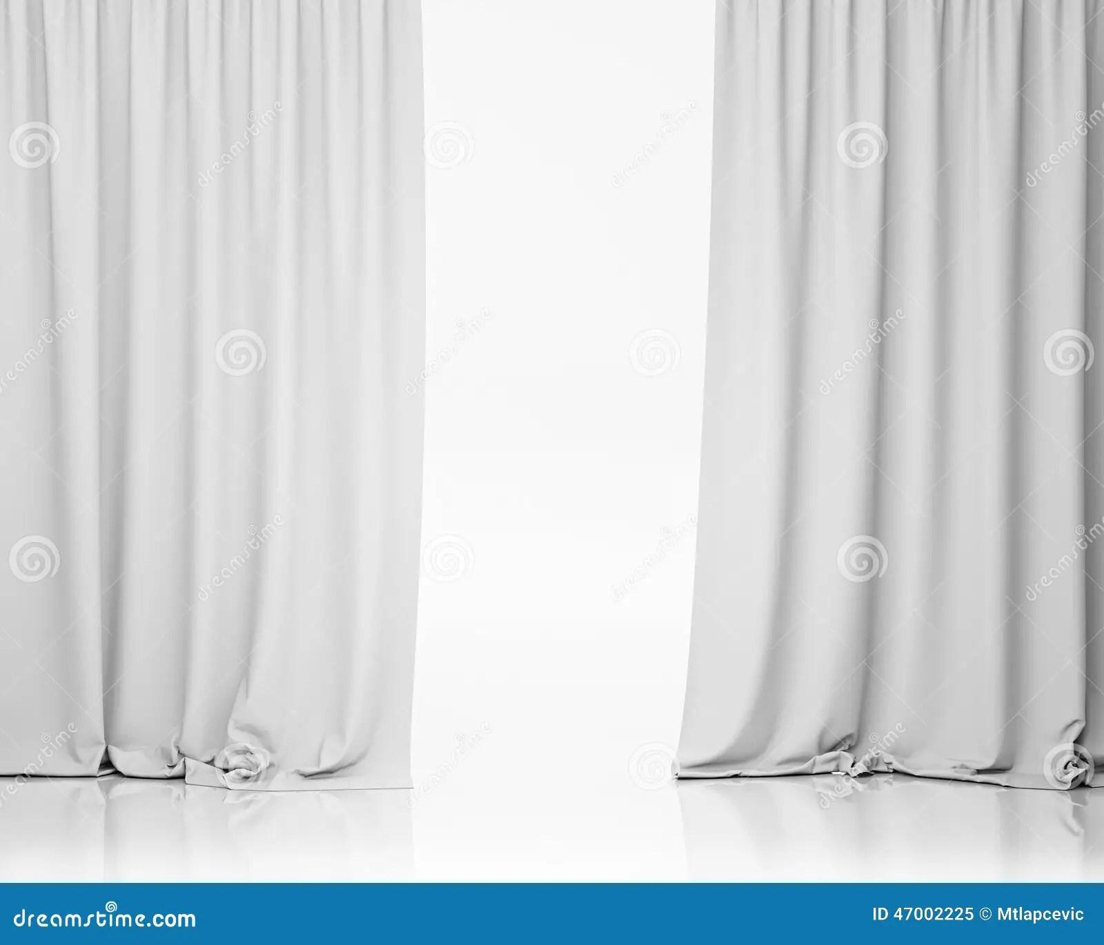 White Stage Curtain Background Stock Illustration  Image