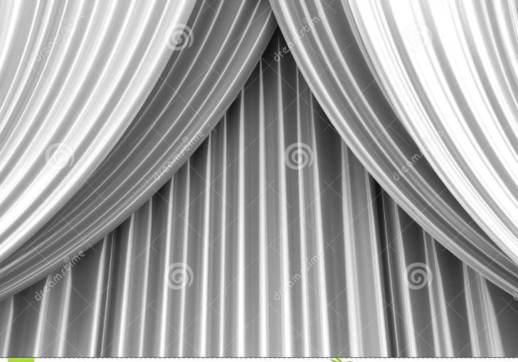 White Theater Curtain