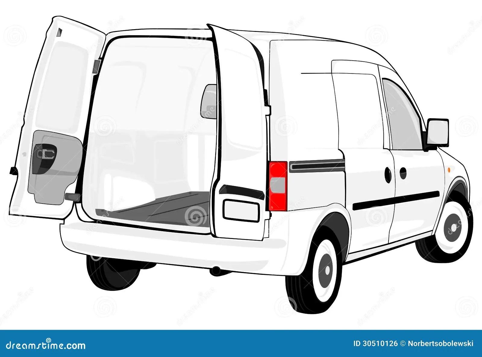 White van stock illustration. Illustration of employee