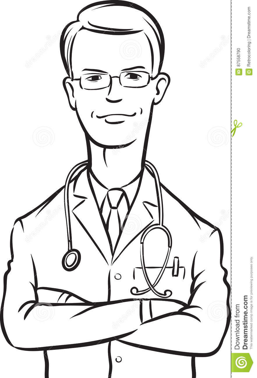 Doctor And Nurse Coloring Sheets