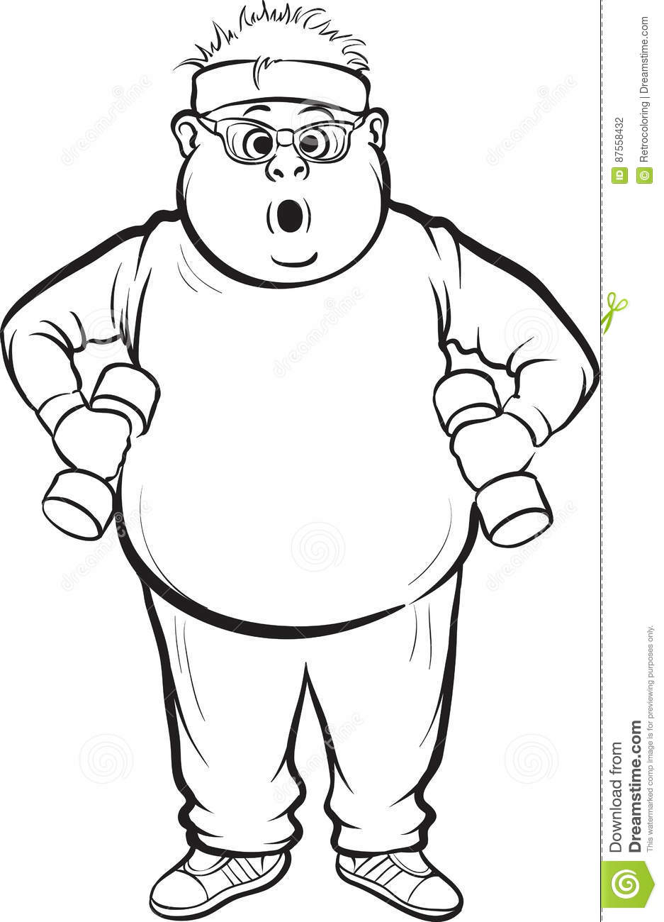 Fat Man Coloring Pages