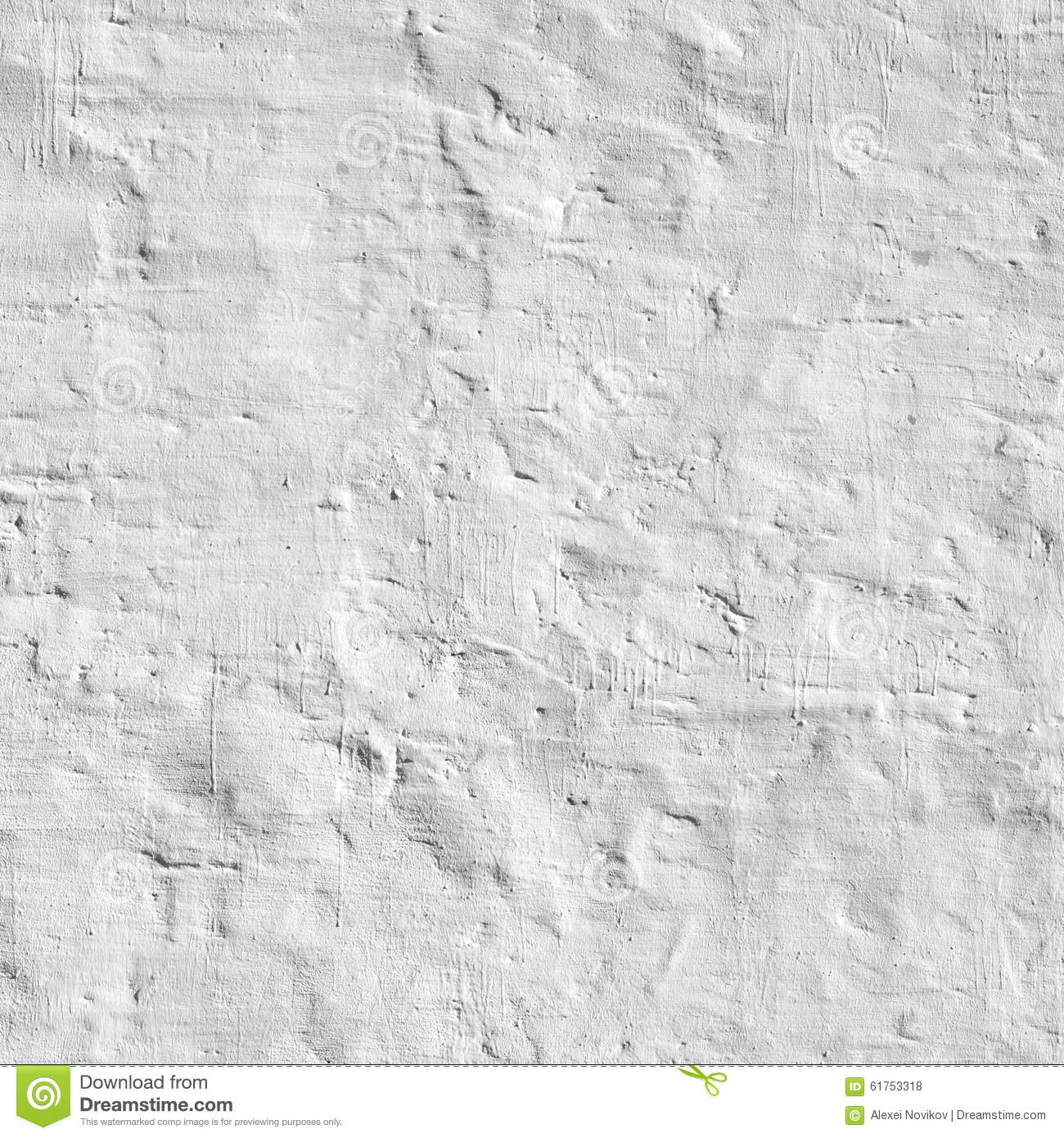 Old Whitewashed Brick Wall Royalty Free Stock Photography