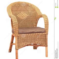 Comfortable Wicker Chairs White Chair Cover Isolated On Background