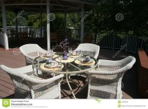 Wicker Outdoor Furniture Royalty Free Stock