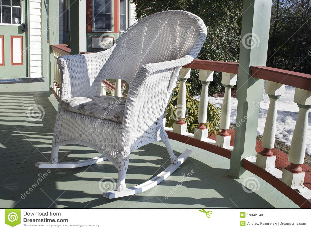 Black Wicker Rocking Chairs Wicker Rocking Chair Stock Photo Image Of Shadows Home 19042740