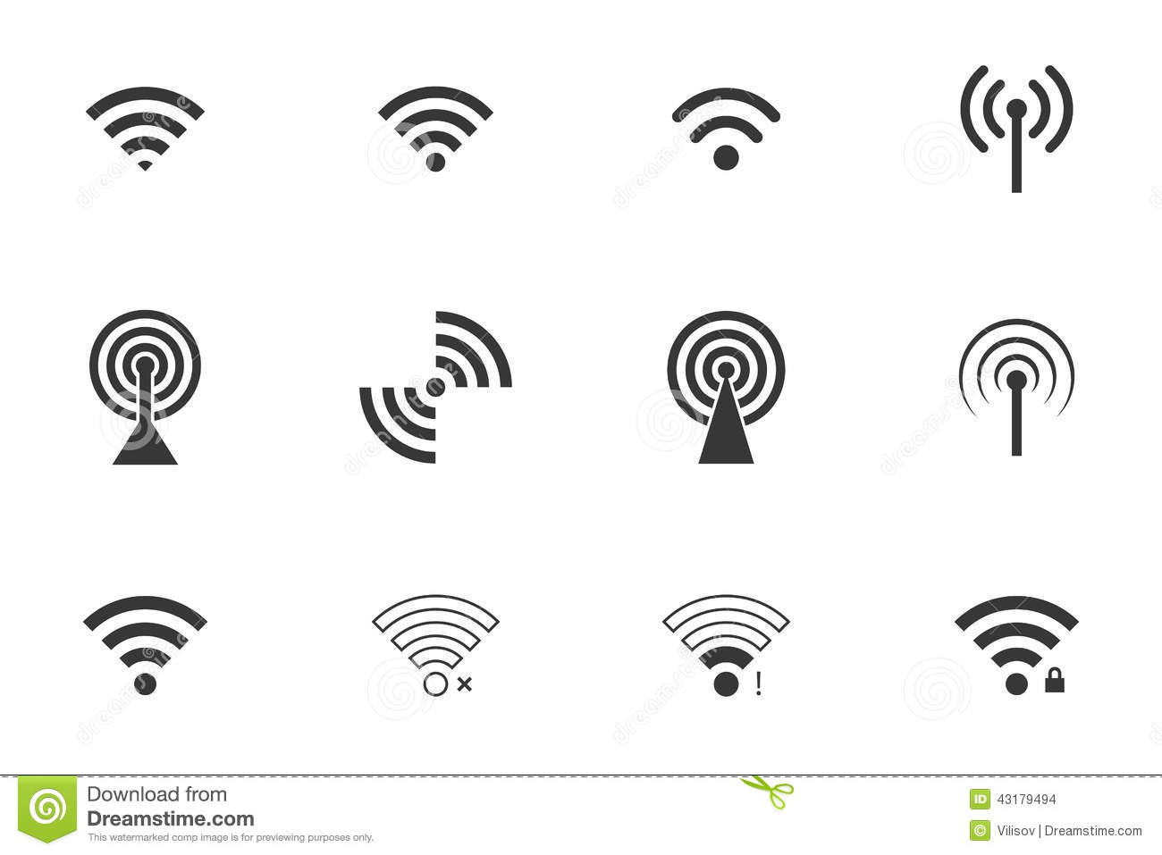 Wifi icons stock vector. Illustration of hotspot, mobility
