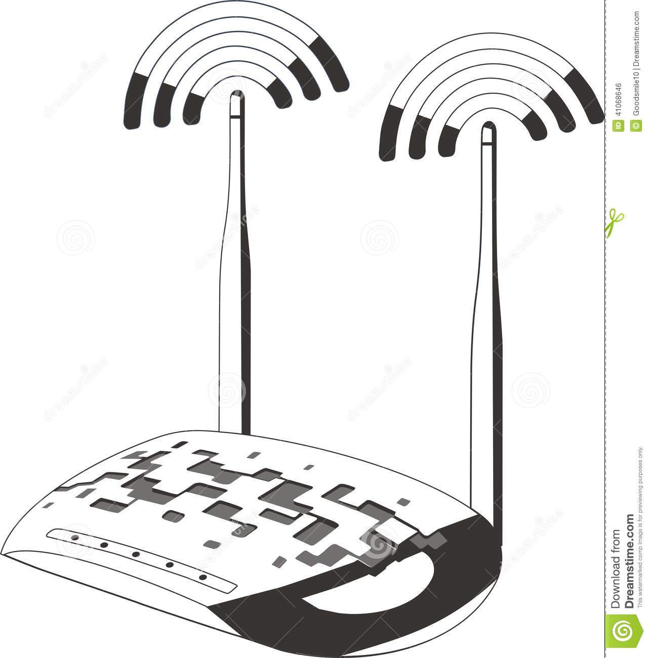 Wifi Modem Router Stock Vector Illustration Of Blue