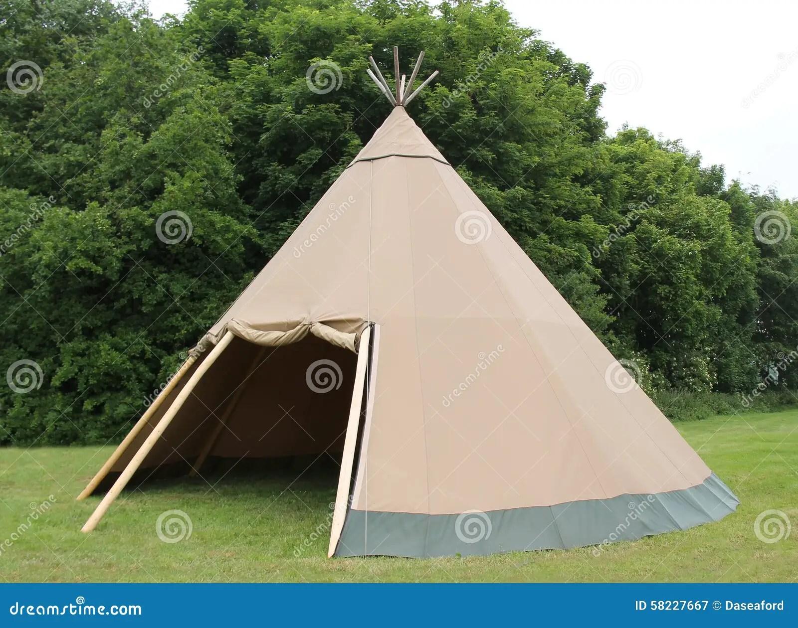 Wigwam Tent. stock image. Image of poles, pegs, vintage