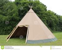 Wigwam Tent. stock image. Image of poles, pegs, vintage