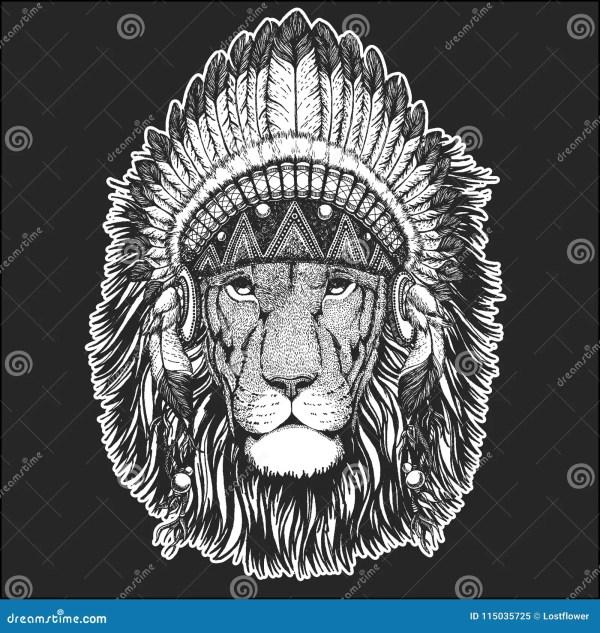 23f0f66f55b6f Native American Indian Headdress. Native American Indian Headdress. Lion  With Feathers Tattoo Sameoldkid Deviantart