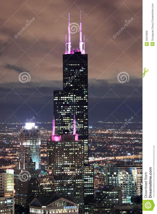 Willis Tower In Chicago Editorial Of Rooftop