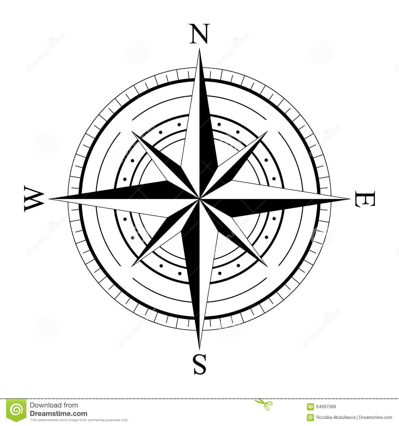 Wind Rose Compas Stock Vector