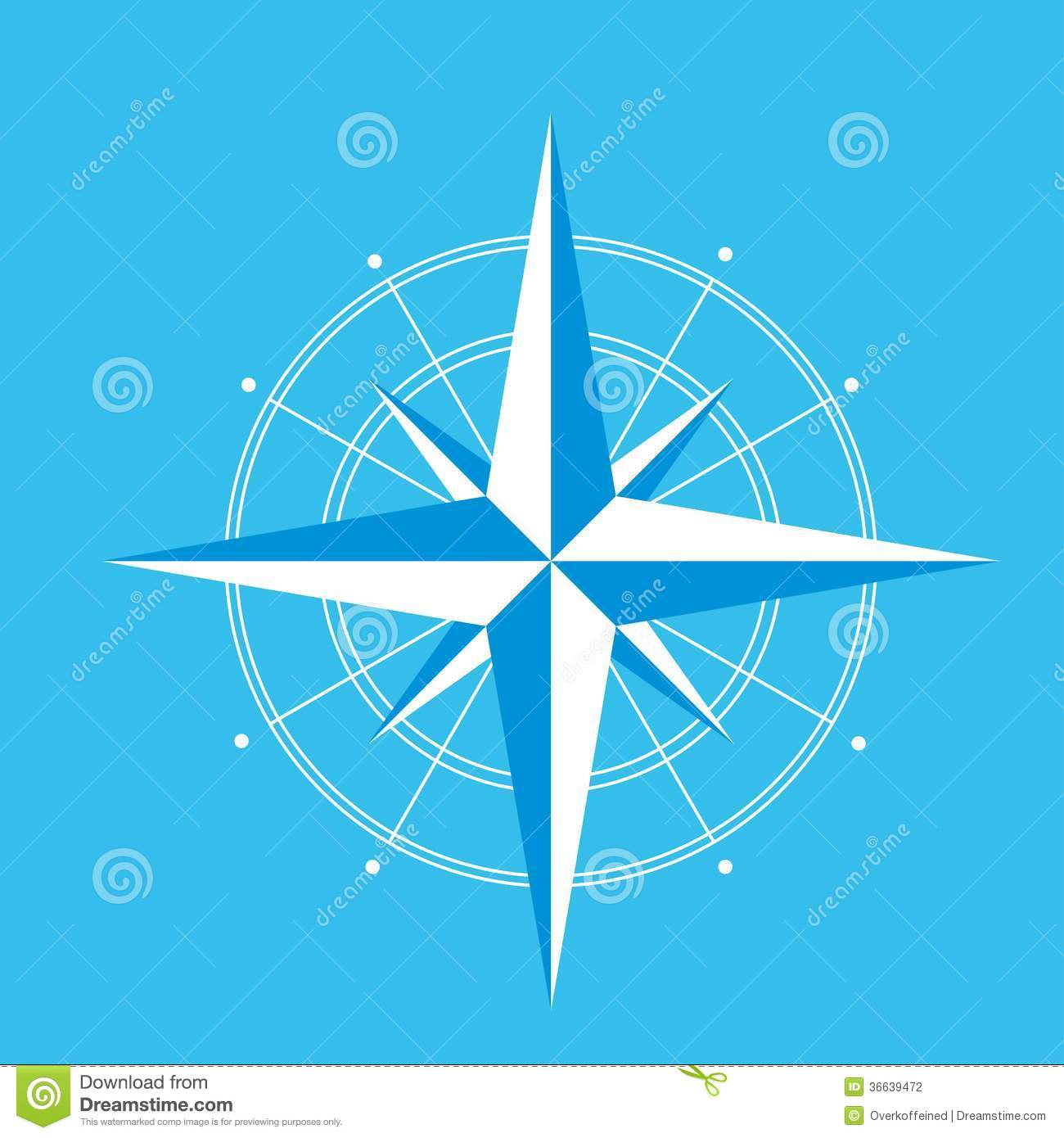 Wind Rose Compass Diagram Vector For Infographics Stock