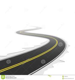 winding road vector illustration of a winding road royalty free illustration [ 1300 x 1390 Pixel ]