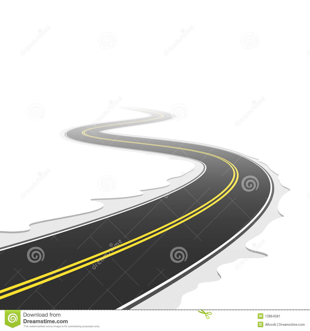 hight resolution of winding road vector illustration of a winding road royalty free illustration