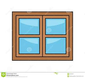 Glass And Wood Door Icon Image Cartoon Vector