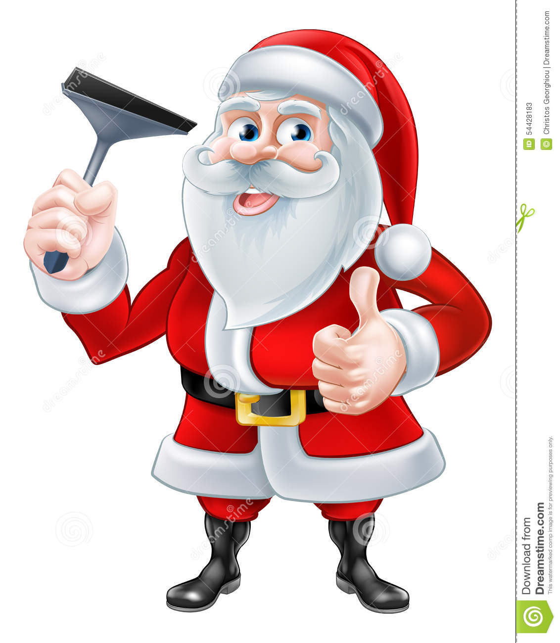 Window Cleaner Santa Stock Vector Image Of Housework