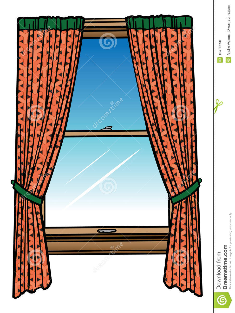 window and curtains stock