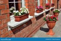 Window Decoration With Flowers Stock Photo - Image: 56067221