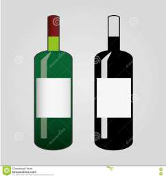 clip art of wine flat bottle icon isolated [ 1300 x 1390 Pixel ]