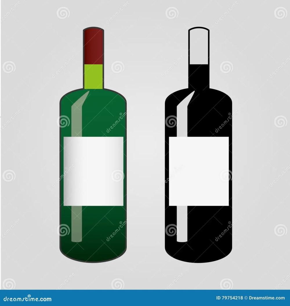 medium resolution of clip art of wine flat bottle icon isolated
