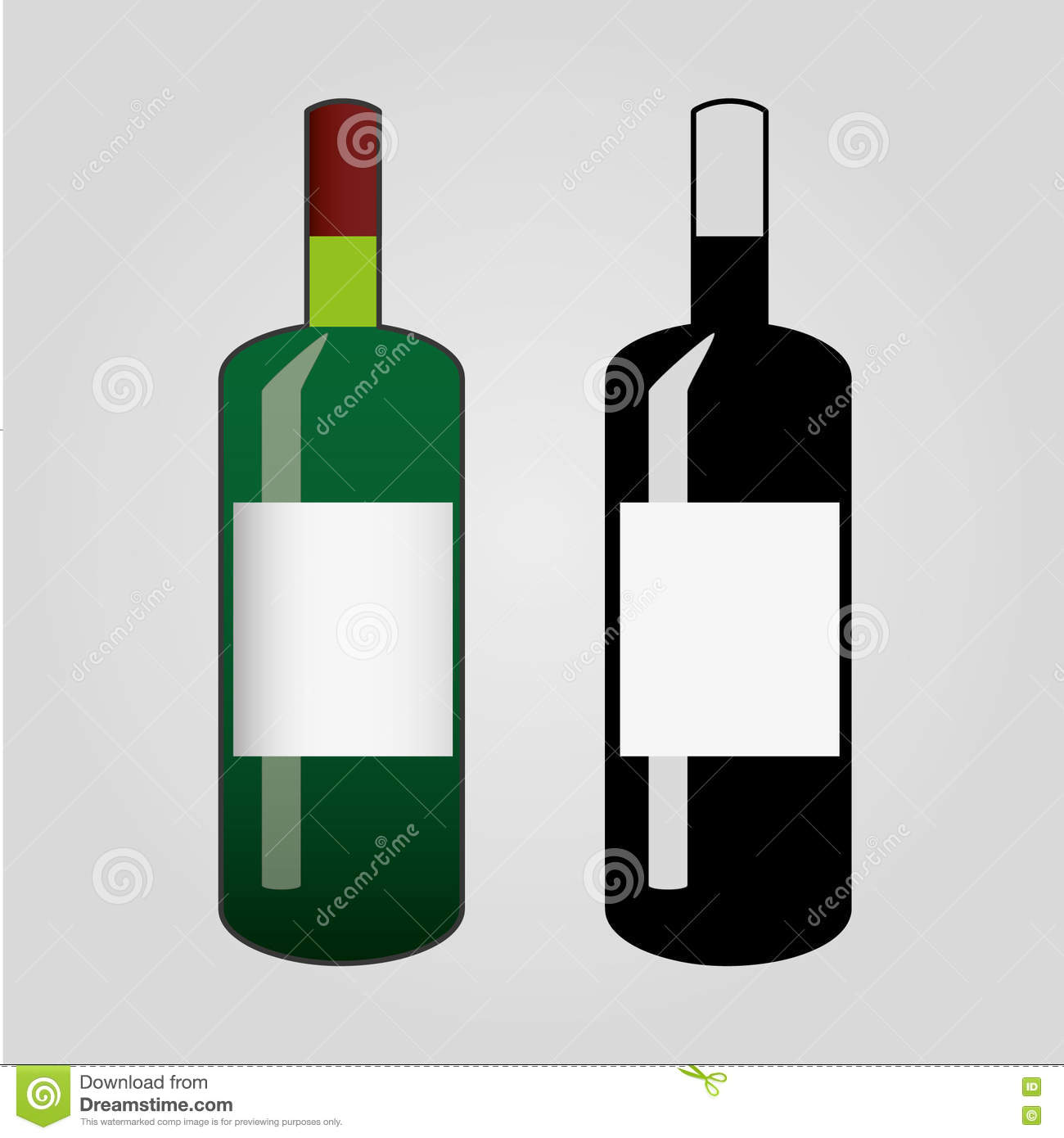 hight resolution of clip art of wine flat bottle icon isolated