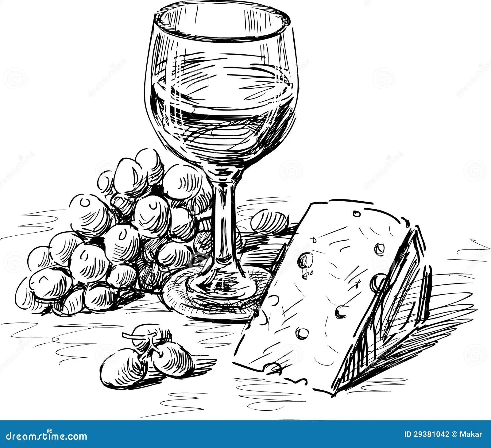 Wine Cheese Stock Illustrations 4 576 Wine Cheese Stock