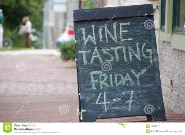 Wine Tasting Sign Royalty Free Stock