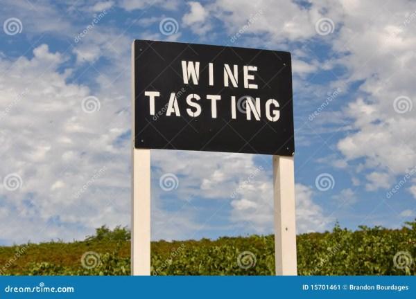 Wine Tasting Sign Stock - 15701461